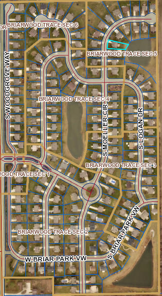 Briarwood Trace Map of Community